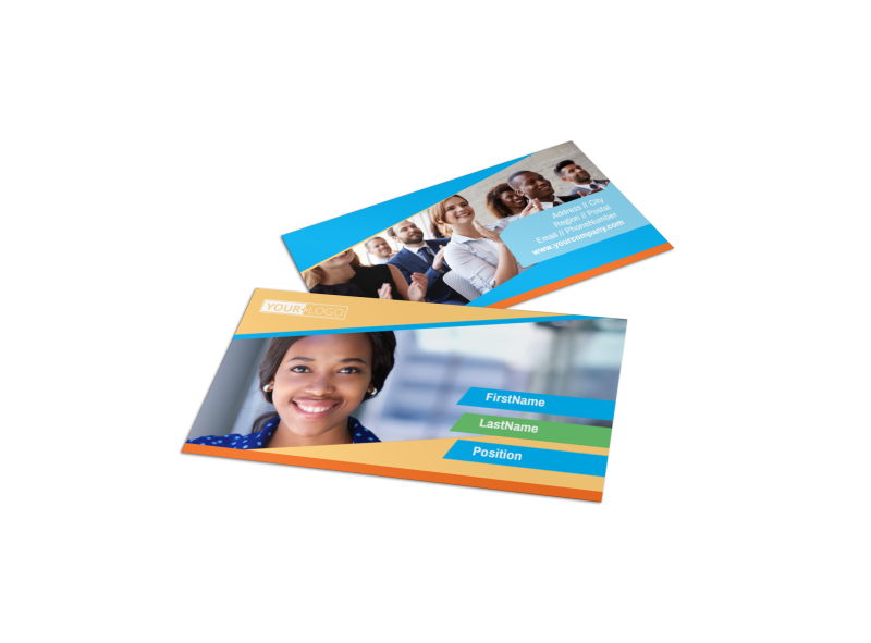 Self Improvement Conference Business Card Template Preview 1