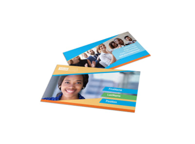 Self Improvement Conference Business Card Template preview