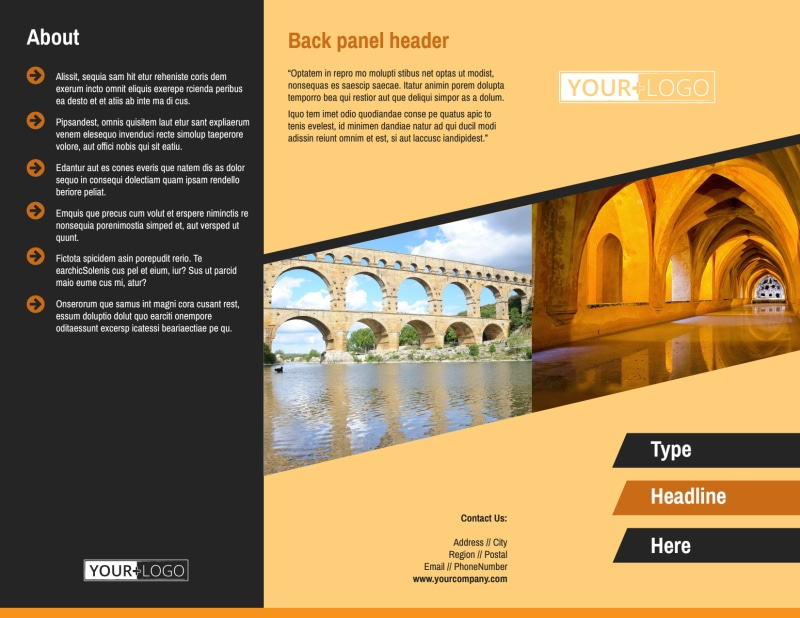 Creative Architecture & Design Brochure Template Preview 2