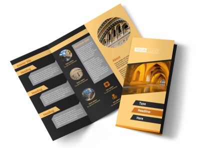 Creative Architecture & Design Tri-Fold Brochure Template preview