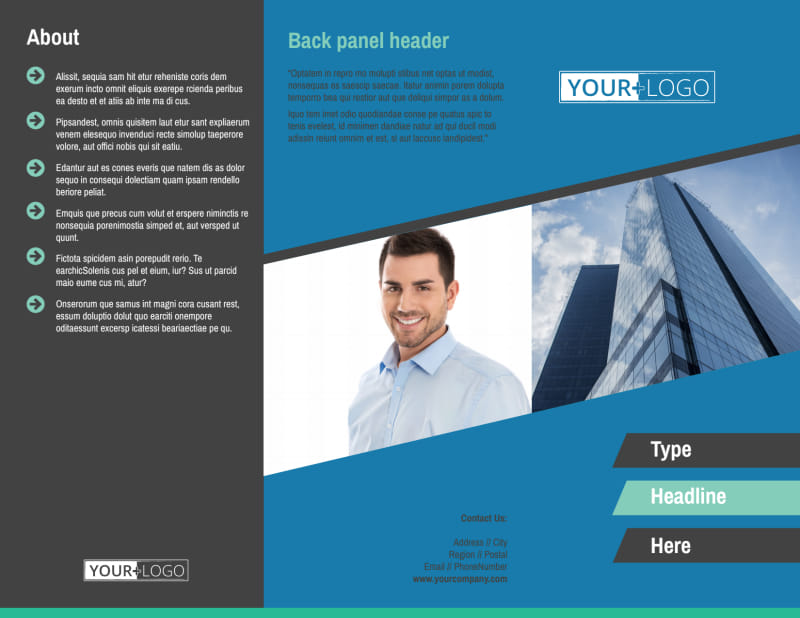 Commercial Real Estate Agents Brochure Template Preview 2