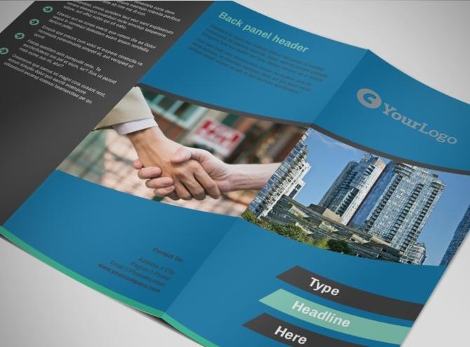 real estate tri fold brochure template - commercial real estate agents tri fold brochure template