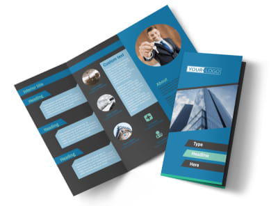 Commercial Real Estate Agents Tri-Fold Brochure Template