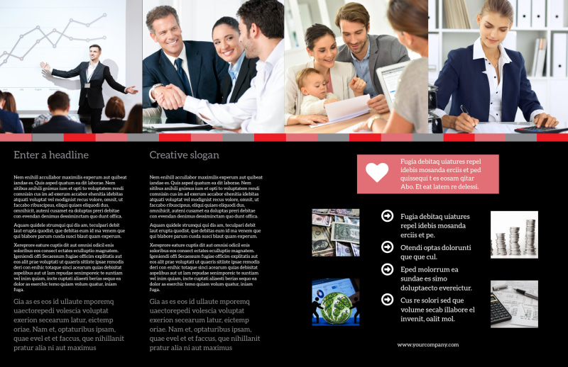 Accounting & Bookkeeping Brochure Template Preview 3