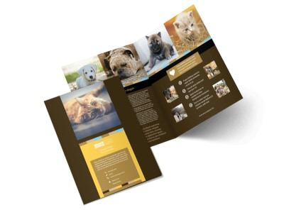 Animal Shelter & Pet Adoption Bi-Fold Brochure Template 2 preview