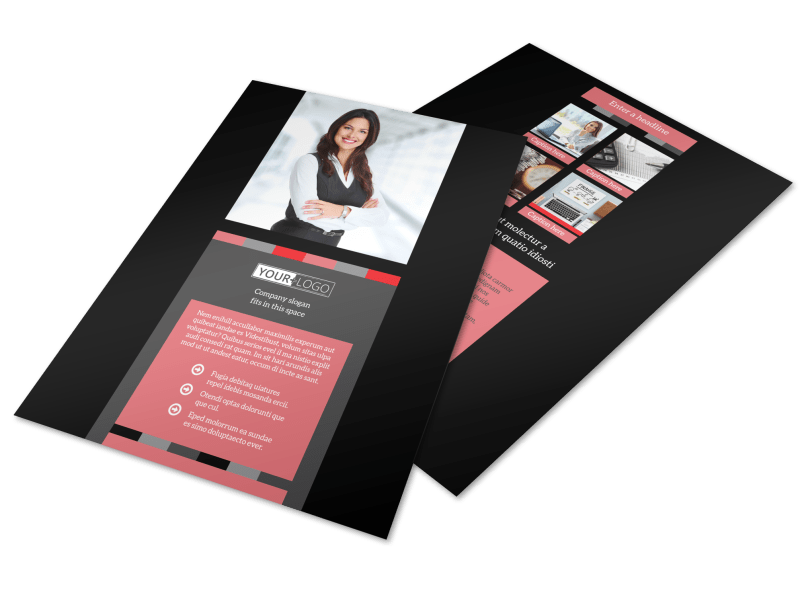 Accounting & Bookkeeping Flyer Template Preview 1