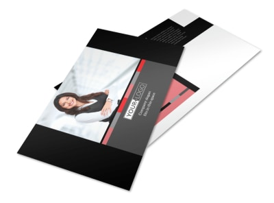 Bookkeeping & Accounting Services Postcard Template preview