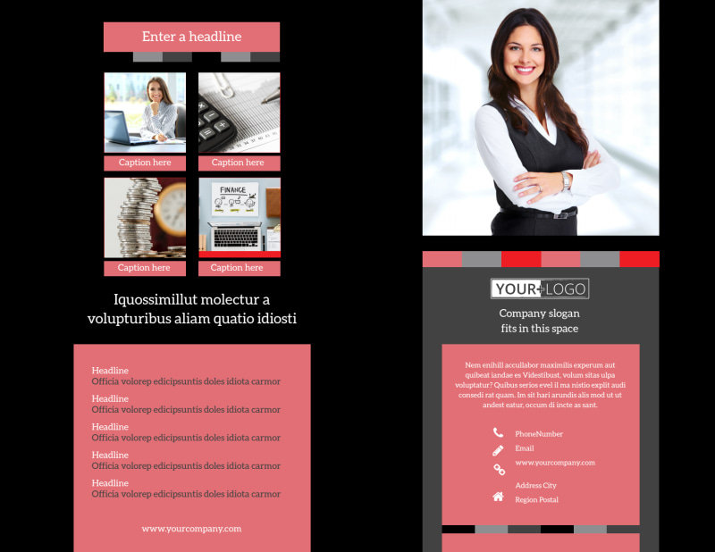 Accounting & Bookkeeping Brochure Template Preview 2