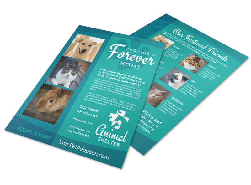 Animal Shelter & Pet Adoption Flyer Template Preview 4