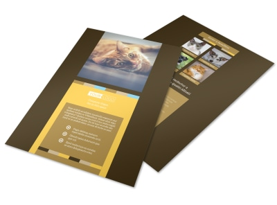 Animal Shelter & Pet Adoption Flyer Template preview