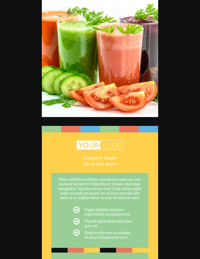 Diet & Nutrition Flyer Template Preview 2