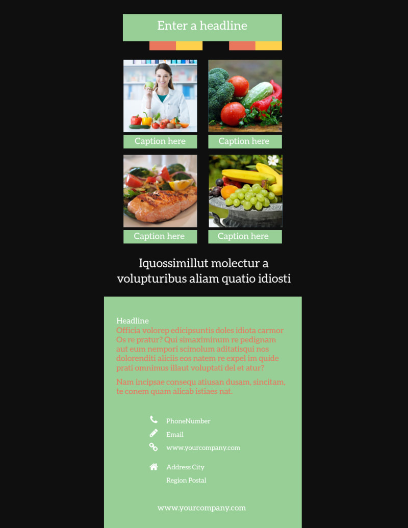 Diet & Nutrition Flyer Template Preview 3