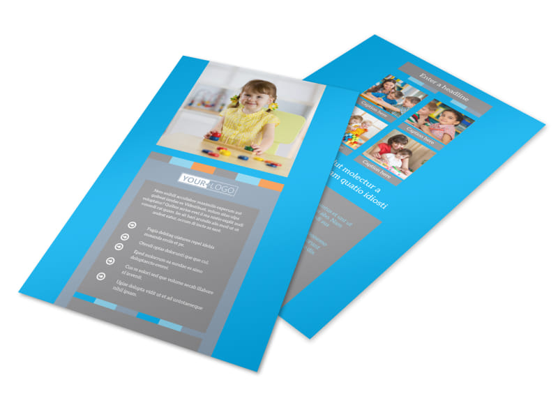 Cognitive Child Development Flyer Template 3