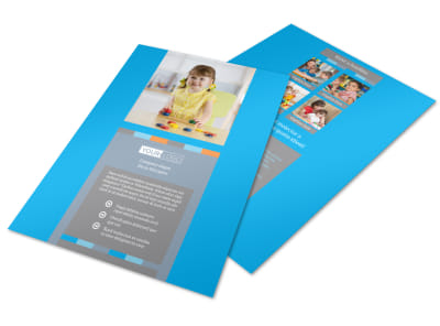 Cognitive Child Development Flyer Template preview