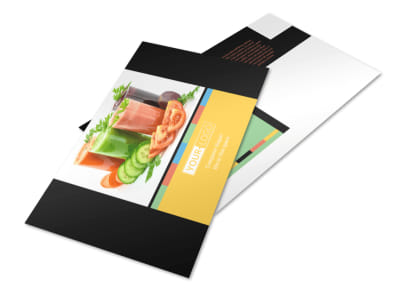 Diet & Nutrition Postcard Template preview