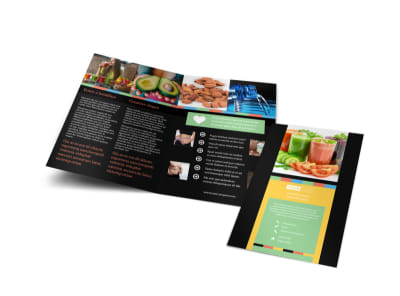 Diet & Nutrition Bi-Fold Brochure Template preview