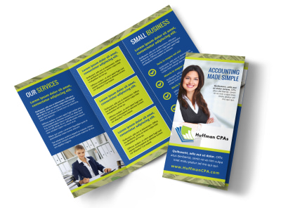 Bookkeeping & Accounting Services Tri Fold Brochure Template preview