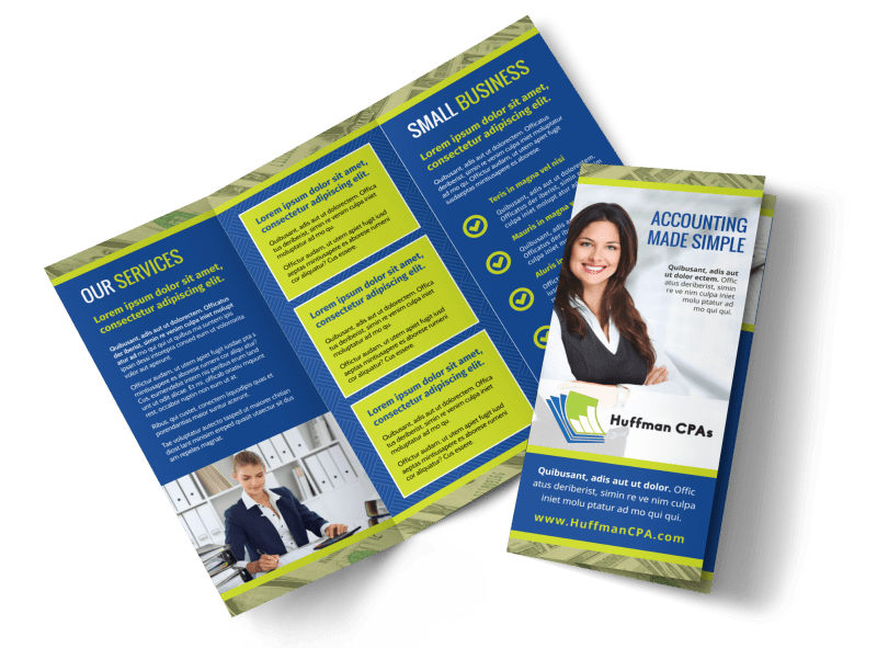 Accounting & Bookkeeping Brochure Template Preview 1