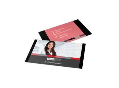 Bookkeeping & Accounting Services Business Card Template preview