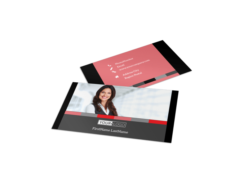 Accounting & Bookkeeping Business Card Template Preview 1