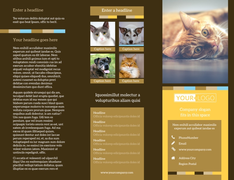 Animal Shelter & Pet Adoption Brochure Template Preview 2