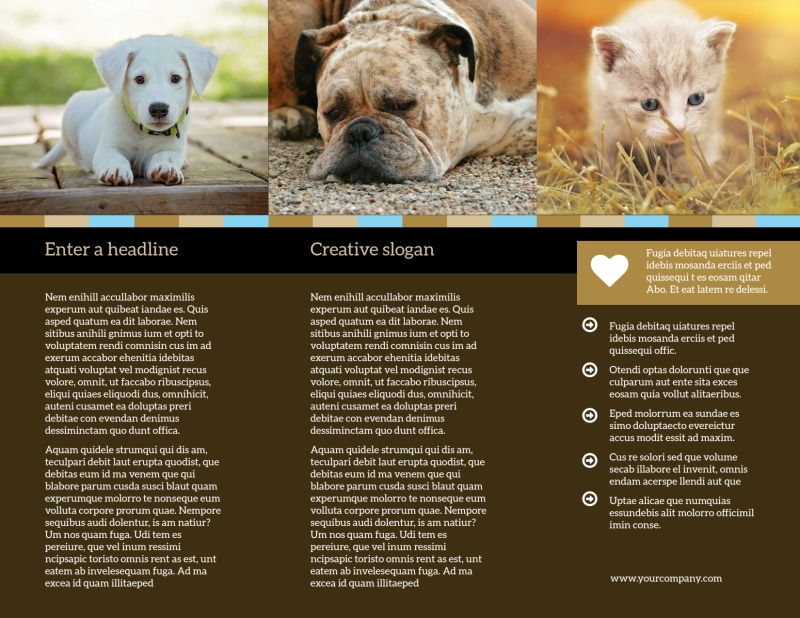 Animal Shelter & Pet Adoption Brochure Template Preview 3
