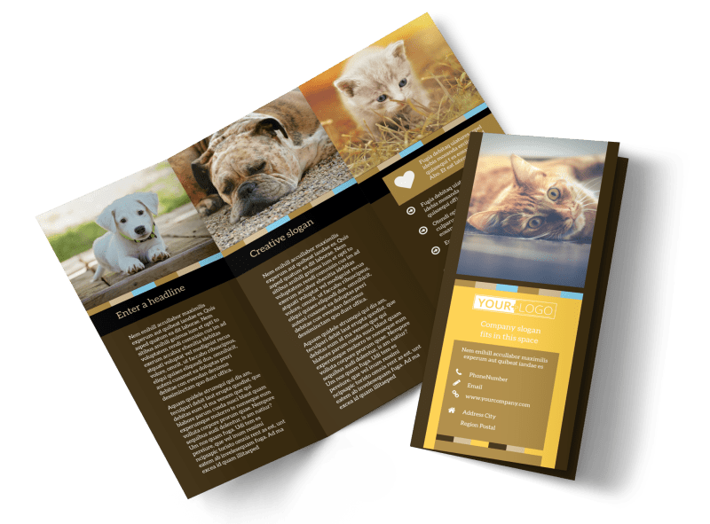 Animal Shelter & Pet Adoption Brochure Template Preview 1
