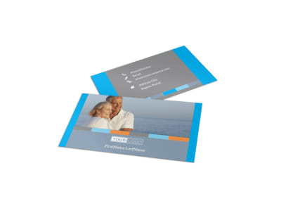 Life Insurance Company Business Card Template preview
