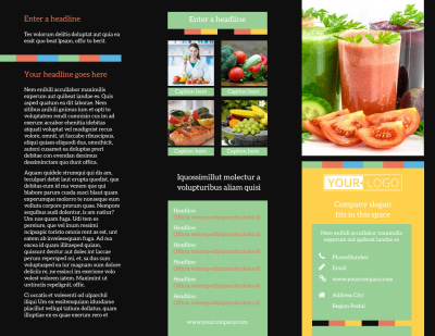 Diet & Nutrition Brochure Template Preview 1