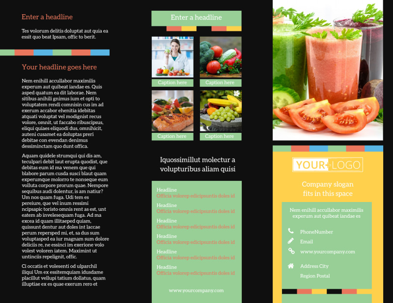 Diet & Nutrition Brochure Template Preview 2