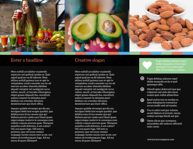 Diet & Nutrition Brochure Template Preview 3