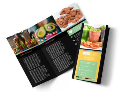 Diet & Nutrition Tri-Fold Brochure Template preview