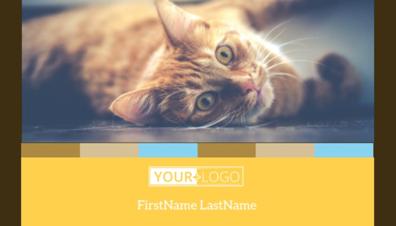 Animal Shelter & Pet Adoption Business Card Template Preview 2