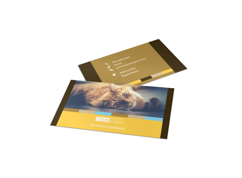 Animal Shelter & Pet Adoption Business Card Template Preview 1