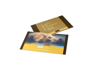 Animal Shelter & Pet Adoption Business Card Template preview