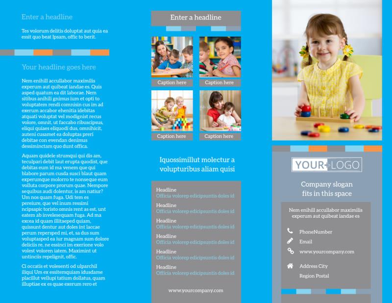 Cognitive Child Development Brochure Template Preview 2