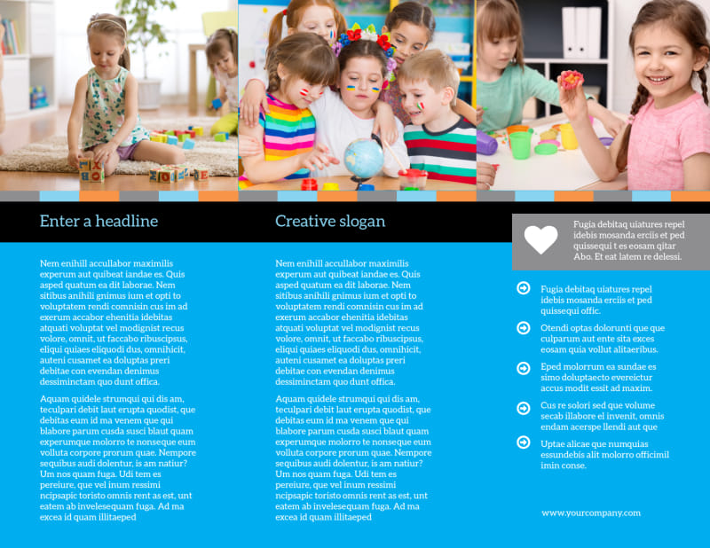 Cognitive Child Development Brochure Template Preview 3