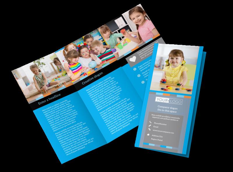 Cognitive Child Development Brochure Template Preview 1