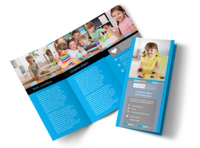 Cognitive Child Development Tri-Fold Brochure Template preview