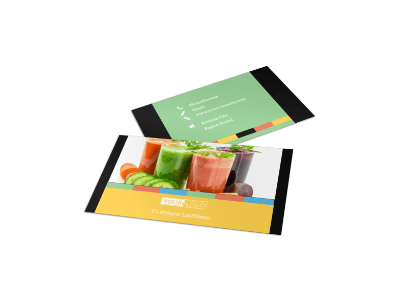Diet & Nutrition Business Card Template Preview 1