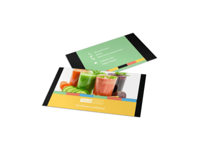 Diet & Nutrition Business Card Template preview