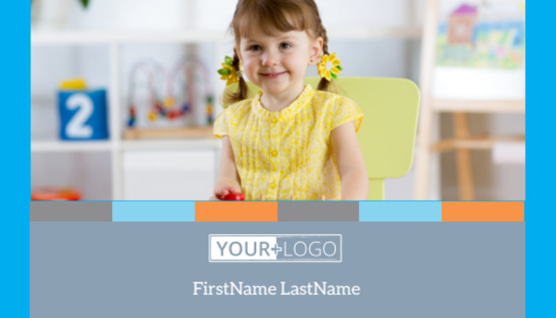 Cognitive Child Development Business Card Template Preview 2