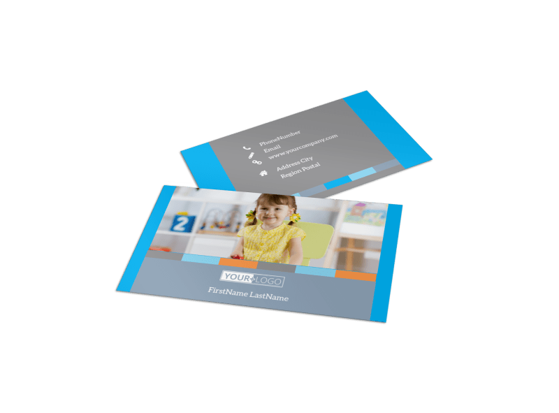 Cognitive Child Development Business Card Template Preview 1