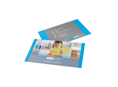 Cognitive Child Development Business Card Template preview