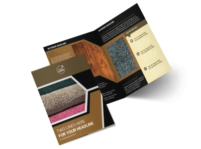 Carpet & Hardwood Flooring Brochure Template 2