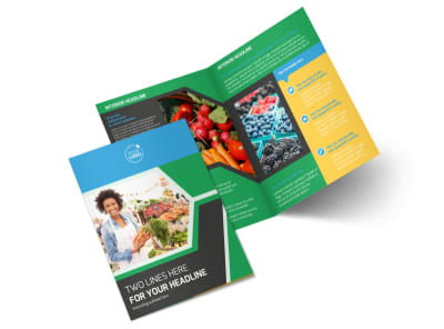 Fresh Farmers Market Bi-Fold Brochure Template 2
