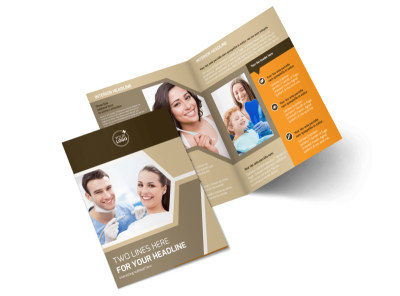 Orthodontist Bi-Fold Brochure Template 2
