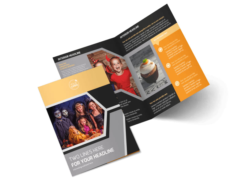 Halloween Party Bi-Fold Brochure Template 2