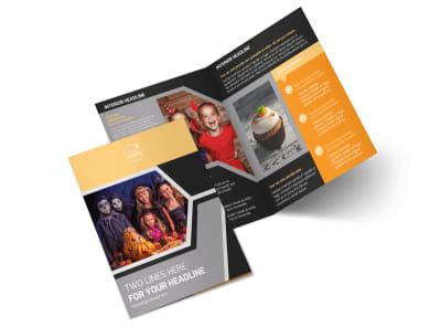Halloween Party Bi-Fold Brochure Template 2