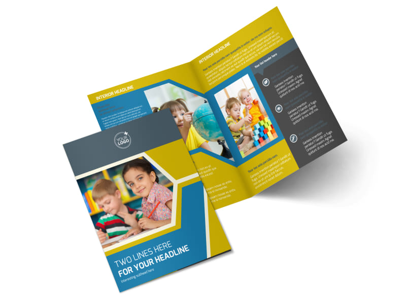 Child Development Bi-Fold Brochure Template 2